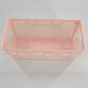 5-Pack Pink Basket Panier Organizers with floral